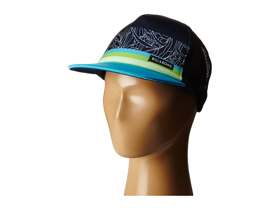 Billabong - Spinner Tropics Trucker Hat (Big Kids) (Blue) Caps
