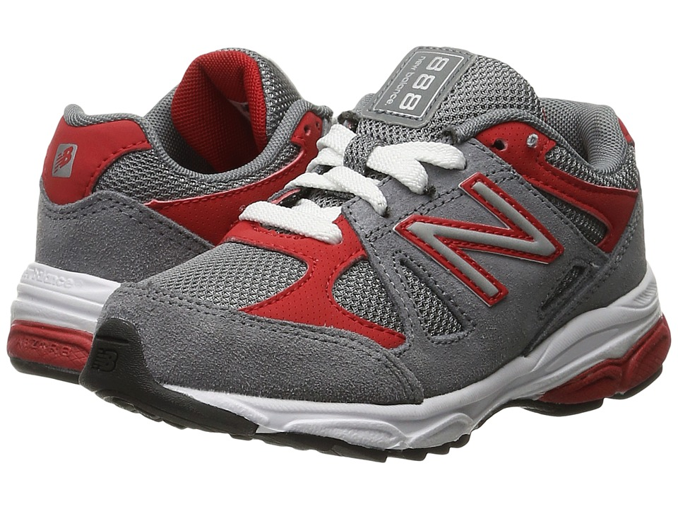 New Balance Kids - 888 (Little Kid) (Grey/Red) Boys Shoes