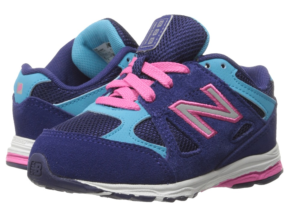 New Balance Kids - 888 (Infant/Toddler) (Blue/Pink) Girls Shoes