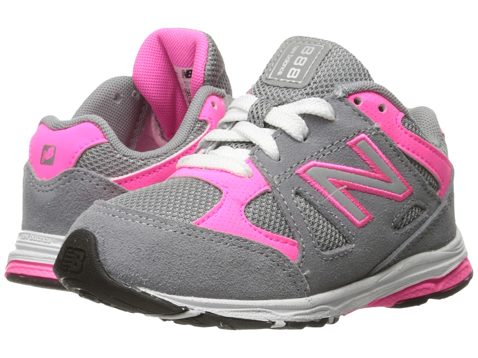 New Balance Kids - 888 (Infant/Toddler) (Grey/Pink) Girls Shoes