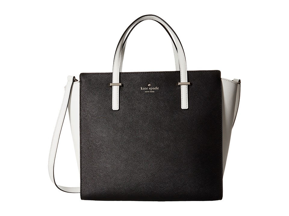 Kate Spade New York - Cedar Street Hayden (Black/Cement) Handbags