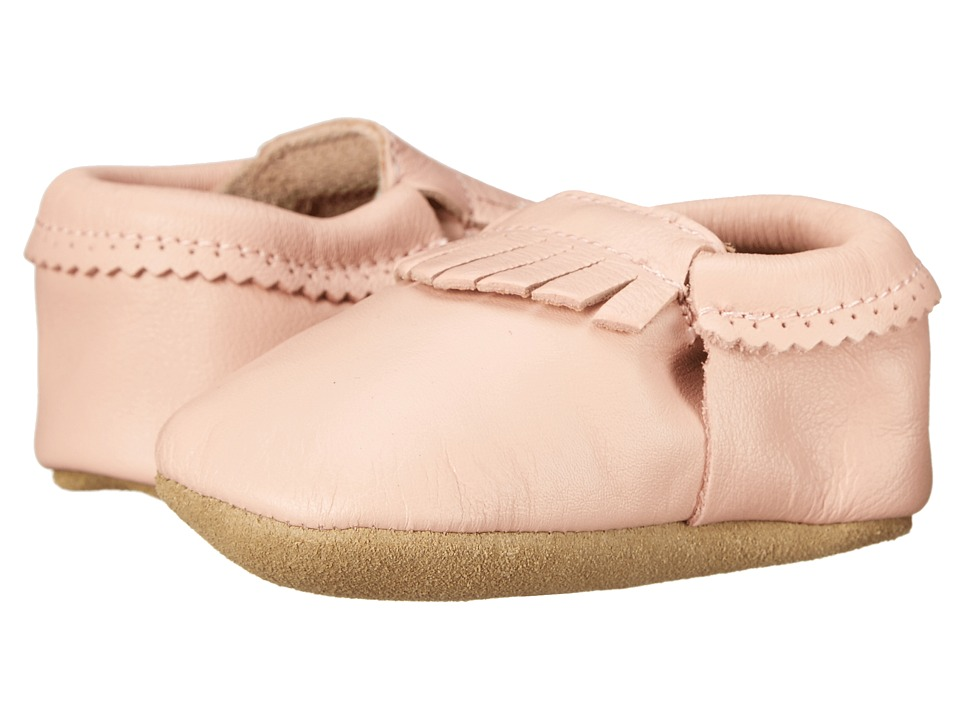 Hanna Andersson - Baby Moc (Infant/Toddler) (Peach Pink) Girls Shoes