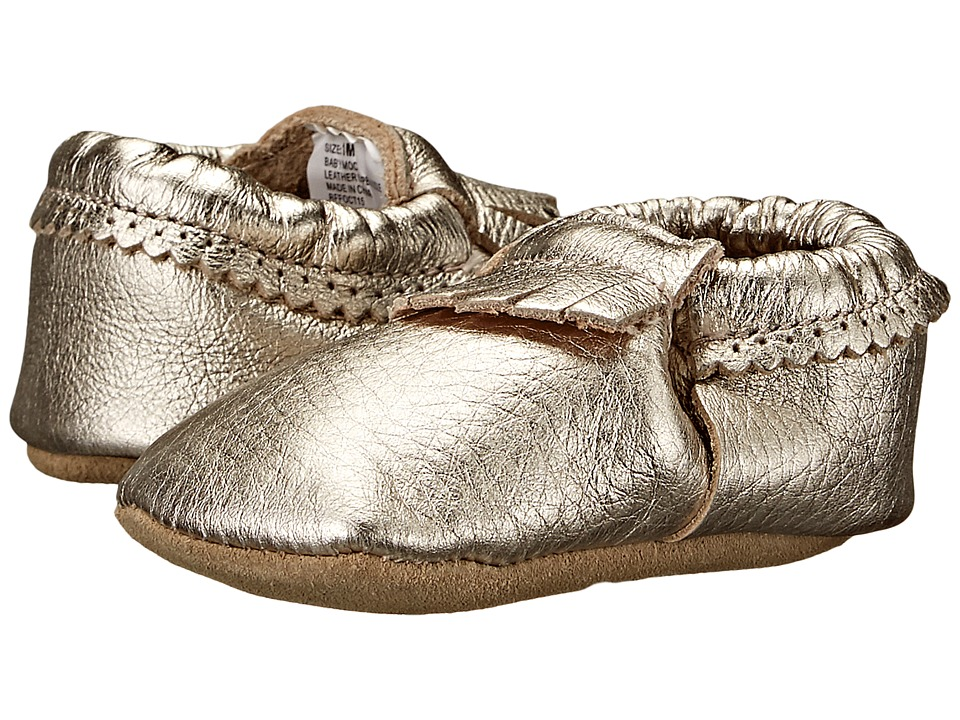 Hanna Andersson - Baby Moc (Infant/Toddler) (Light Gold) Girls Shoes