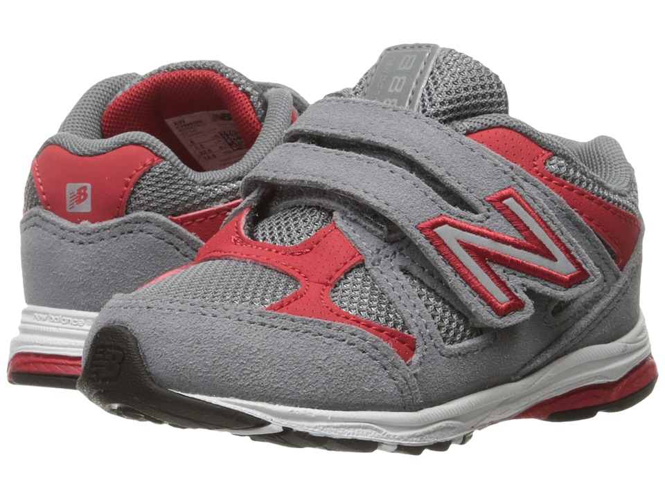 New Balance Kids 888 (Infant/Toddler) (Grey/Red 2) Boys Shoes