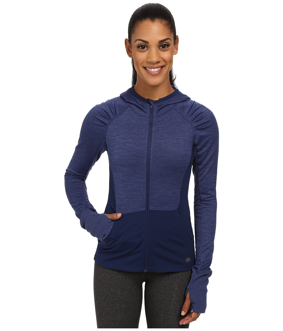 ASICS - Fit-Sana Zip Hoodie (Indigo Blue) Women's Sweatshirt