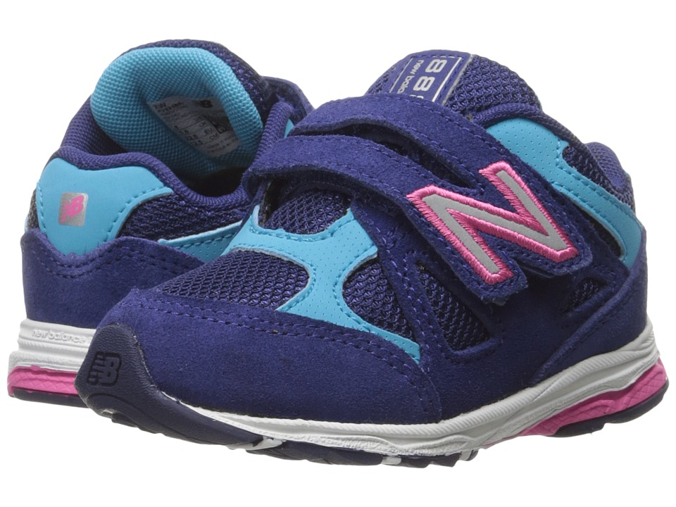 New Balance Kids - 888 (Infant/Toddler) (Blue/Pink 2) Girls Shoes