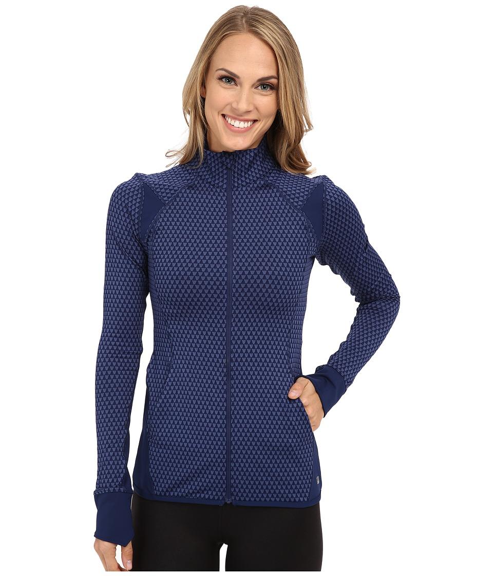 ASICS - Fit-Sana Jacquard Jacket (Indigo Blue) Women's Coat