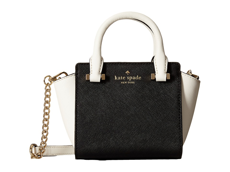Kate Spade New York - Cedar Street Mini Hayden (Black/Cement) Satchel Handbags