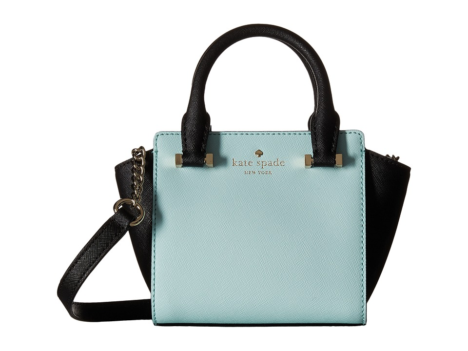 Kate Spade New York - Cedar Street Mini Hayden (Grace Blue/Black) Satchel Handbags