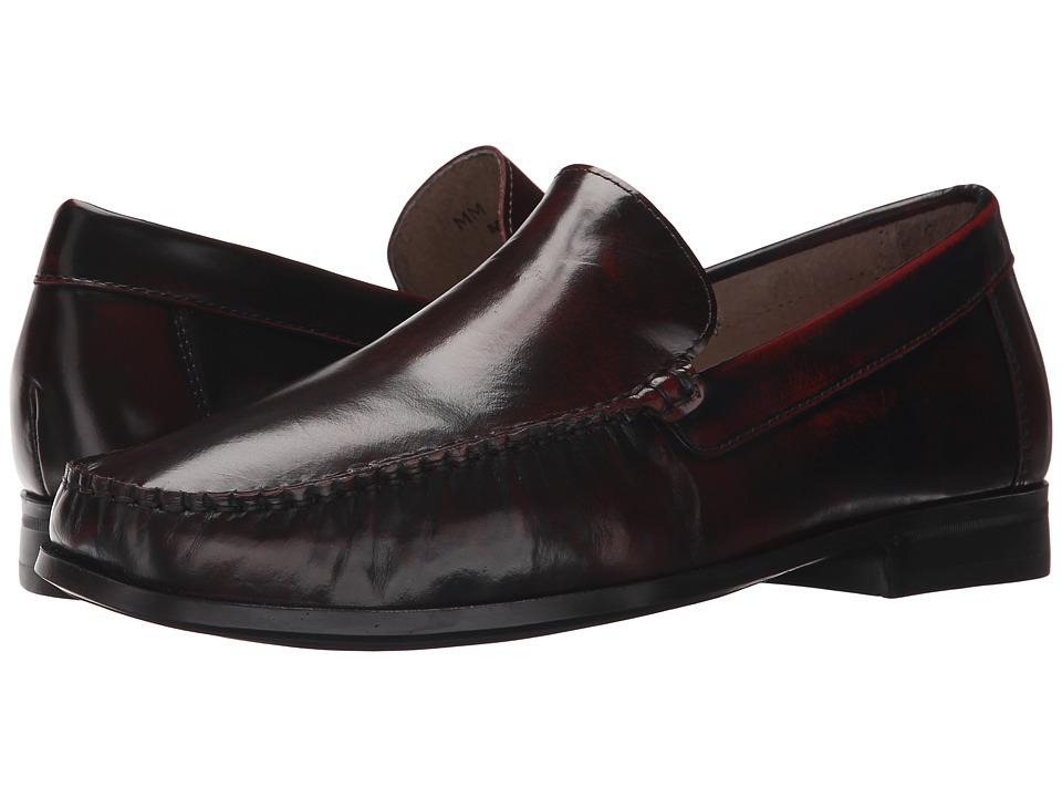 Massimo Matteo - Plain Toe Brush-Off Mocc (Vinho) Men's Moccasin Shoes