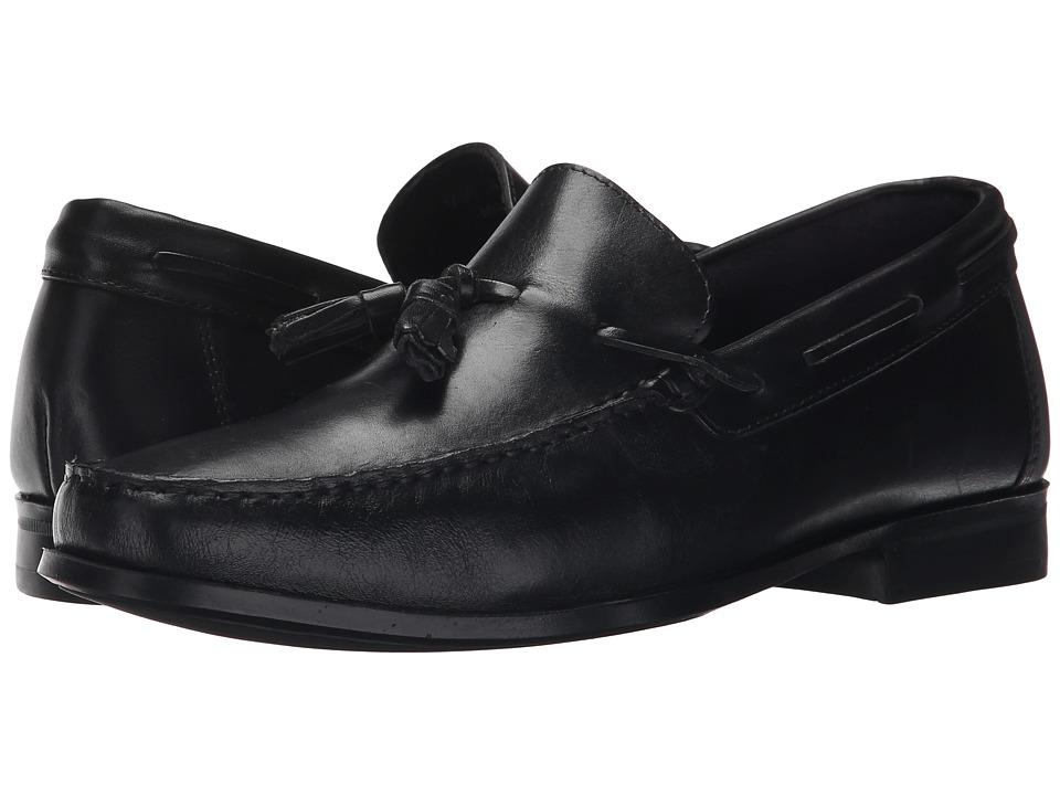 Massimo Matteo - Tassel Moc (Black Latego) Men's Moccasin Shoes