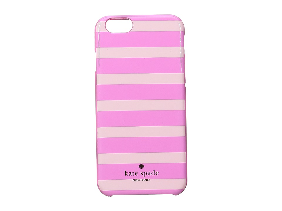 Kate Spade New York - Fairmont Square Stripe iPhone Cases for iPhone 6 (Valentine Pink/Carousel Pink) Cell Phone Case