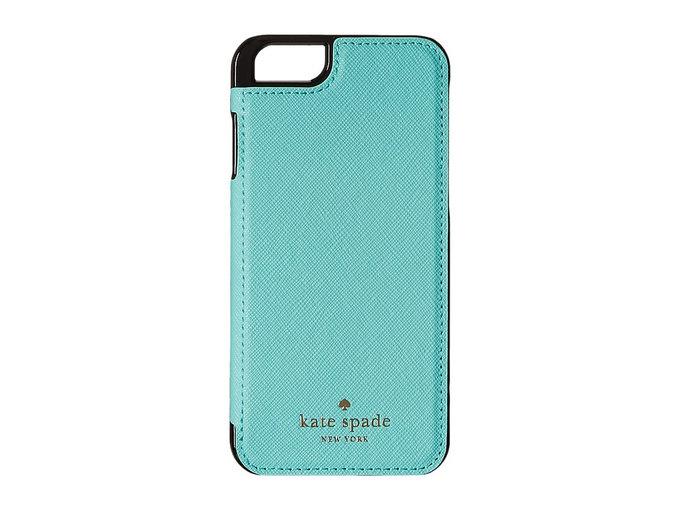 Kate Spade New York - Cedar Street Leather Folio iPhone Pocket (Fresh Air) Cell Phone Case