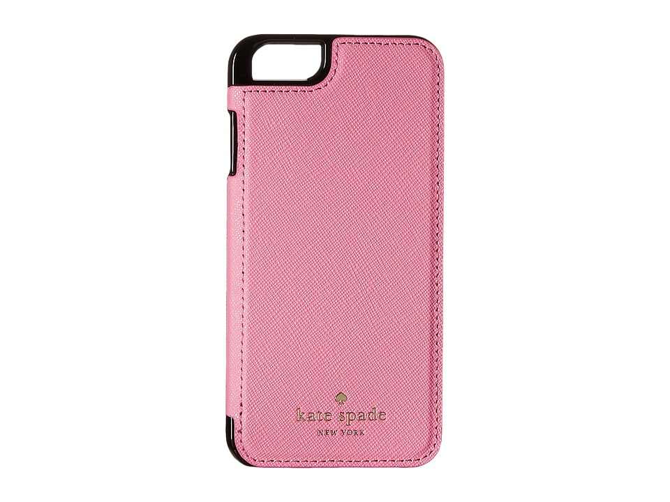 Kate Spade New York - Cedar Street Leather Folio iPhone Pocket (Rouge Pink) Cell Phone Case