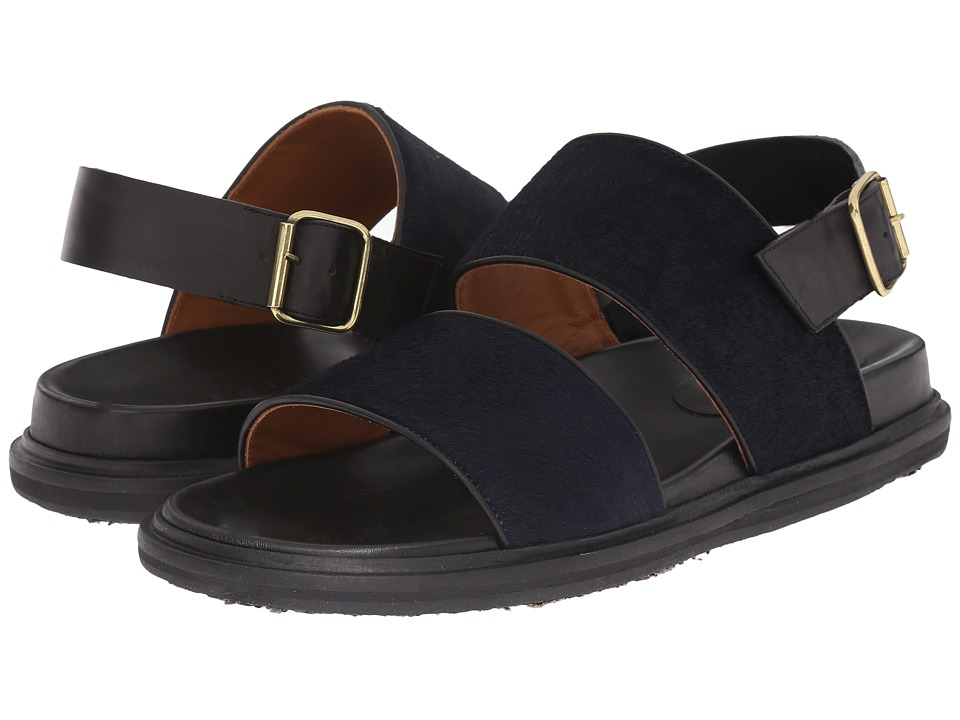 MARNI - Hairy Calf Sandal (Blue) Men's Sandals