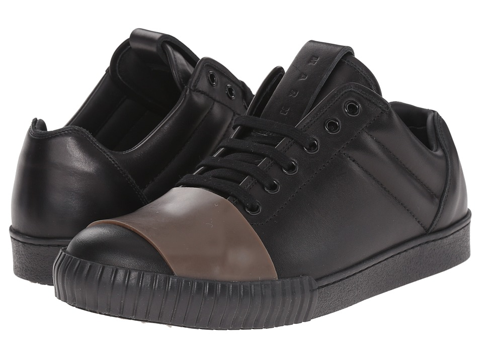 MARNI - Low Top Leather Sneaker (Amber) Men's Shoes