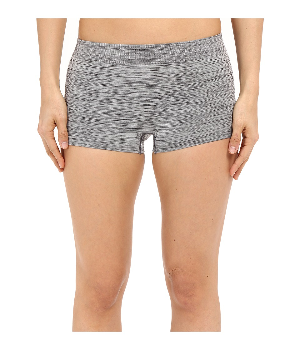 Jockey - Seamfree Sporties Boyshorts (Grey Heather) Women's Underwear