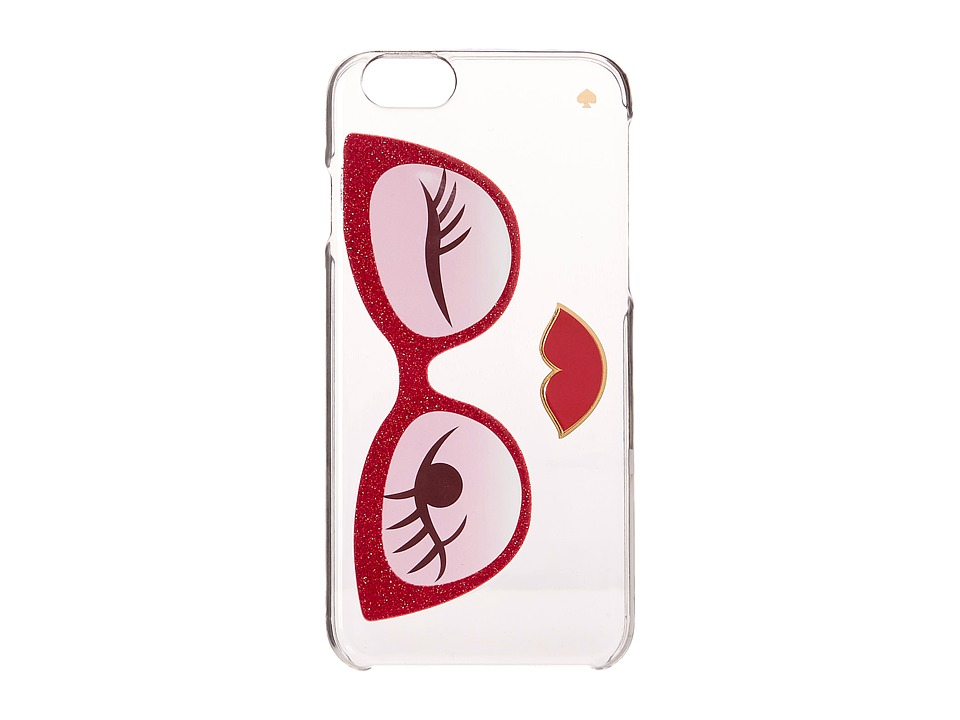 Kate Spade New York - Rose Colored Glasses Resin iPhone 6 and 6s Case (Red Multi) Cell Phone Case
