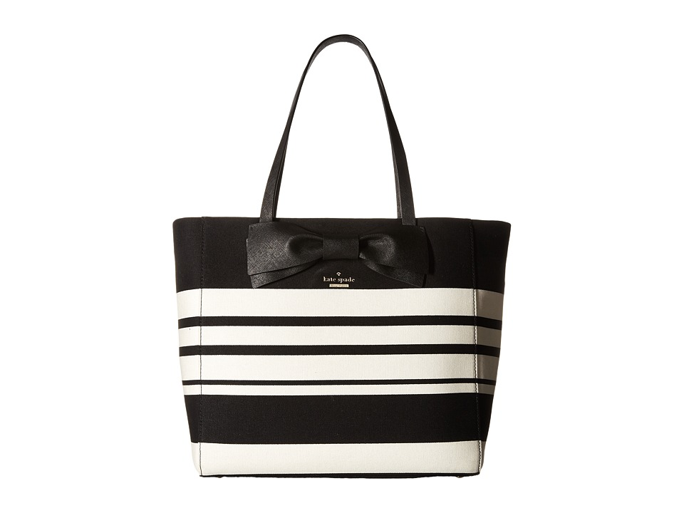 Kate Spade New York - Clement Street Stripe Blair (Black/Cement) Handbags