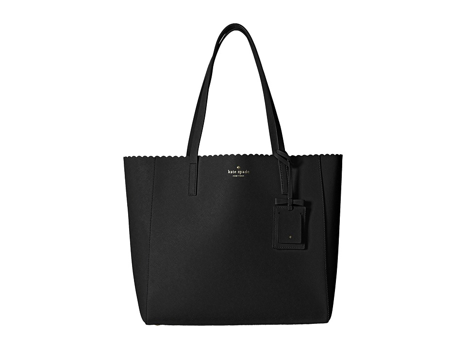 Kate Spade New York - Cape Drive Hallie (Black/Bright White) Handbags