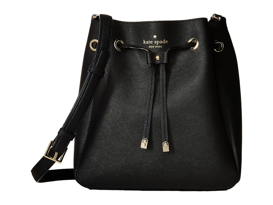 Kate Spade New York - Cape Drive Harriet (Black/Bright White) Handbags