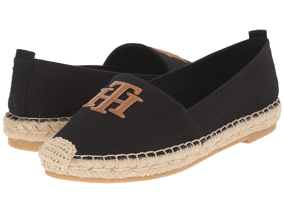 Tommy Hilfiger - Folk (Black Multi Fabric) Women's Shoes