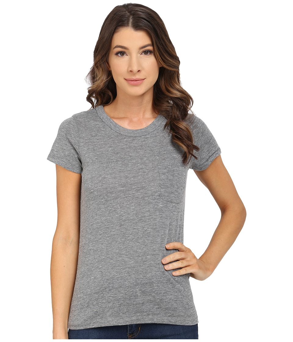 Alternative - Pocket Ideal Tee (Eco Grey) Women's Short Sleeve Pullover
