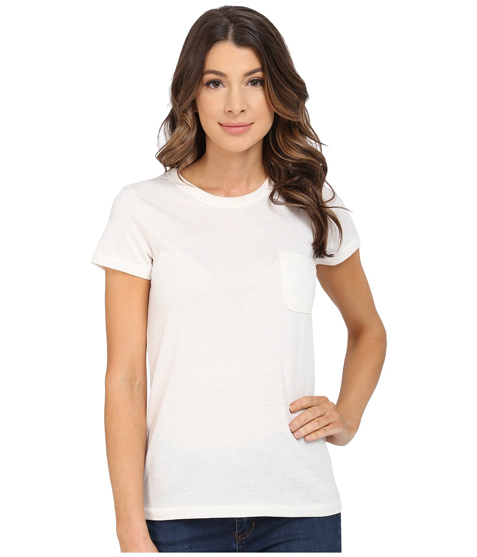 Alternative - Pocket Ideal Tee (Eco Ivory) Women's Short Sleeve Pullover