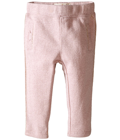 Kate Spade New York Kids - Bow Sweatpants (Infant) (Strawberry Cream/Gold Metallic) Girl