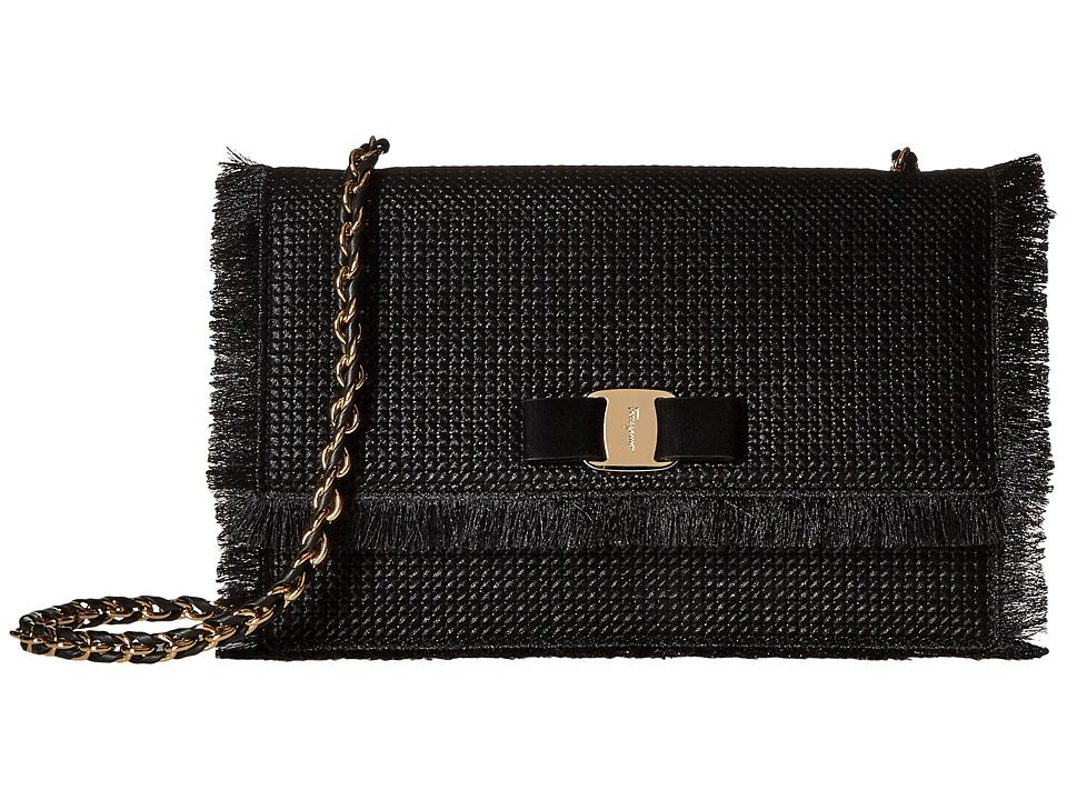 Salvatore Ferragamo - 21F811 Ginny (Nero) Cross Body Handbags