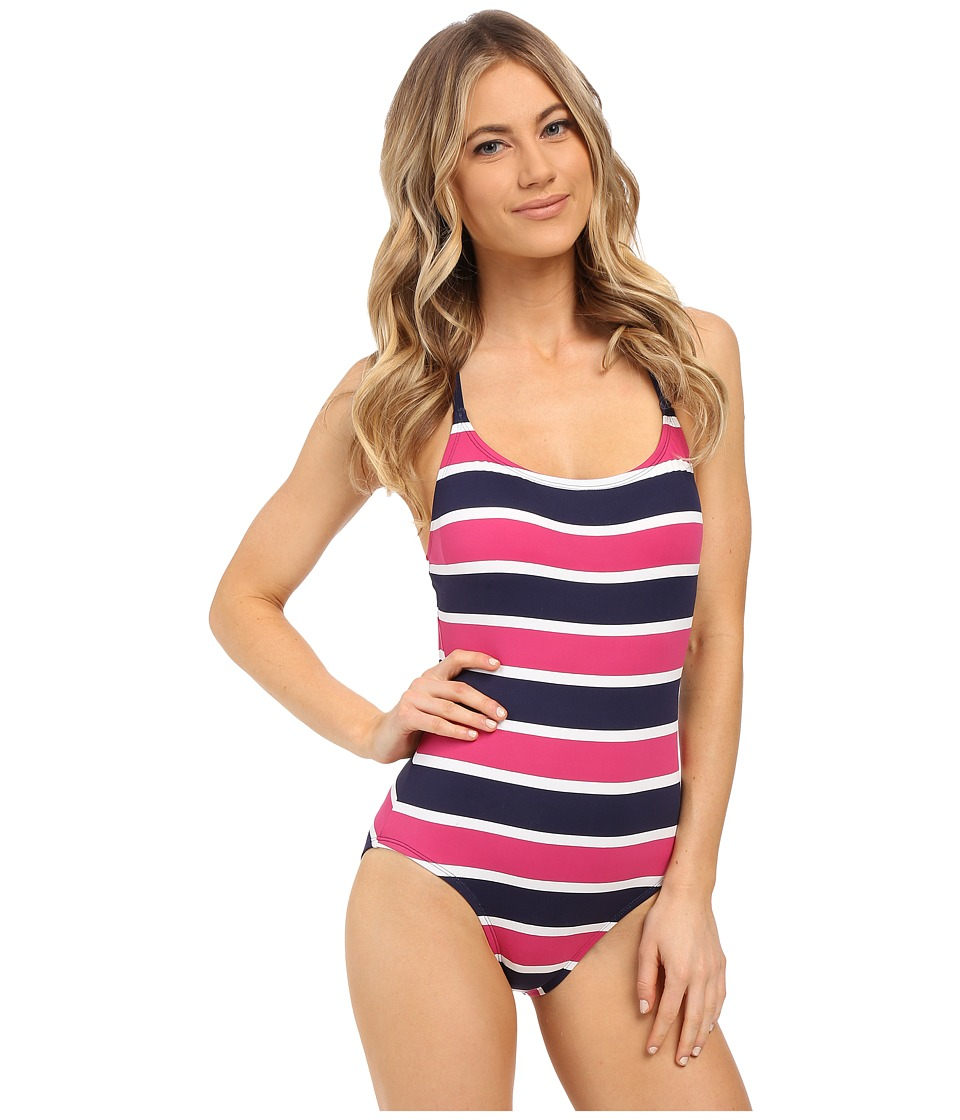 Tommy Bahama - Nautical Low Back Cup One-Piece (Mare Navy) Women's Swimsuits One Piece