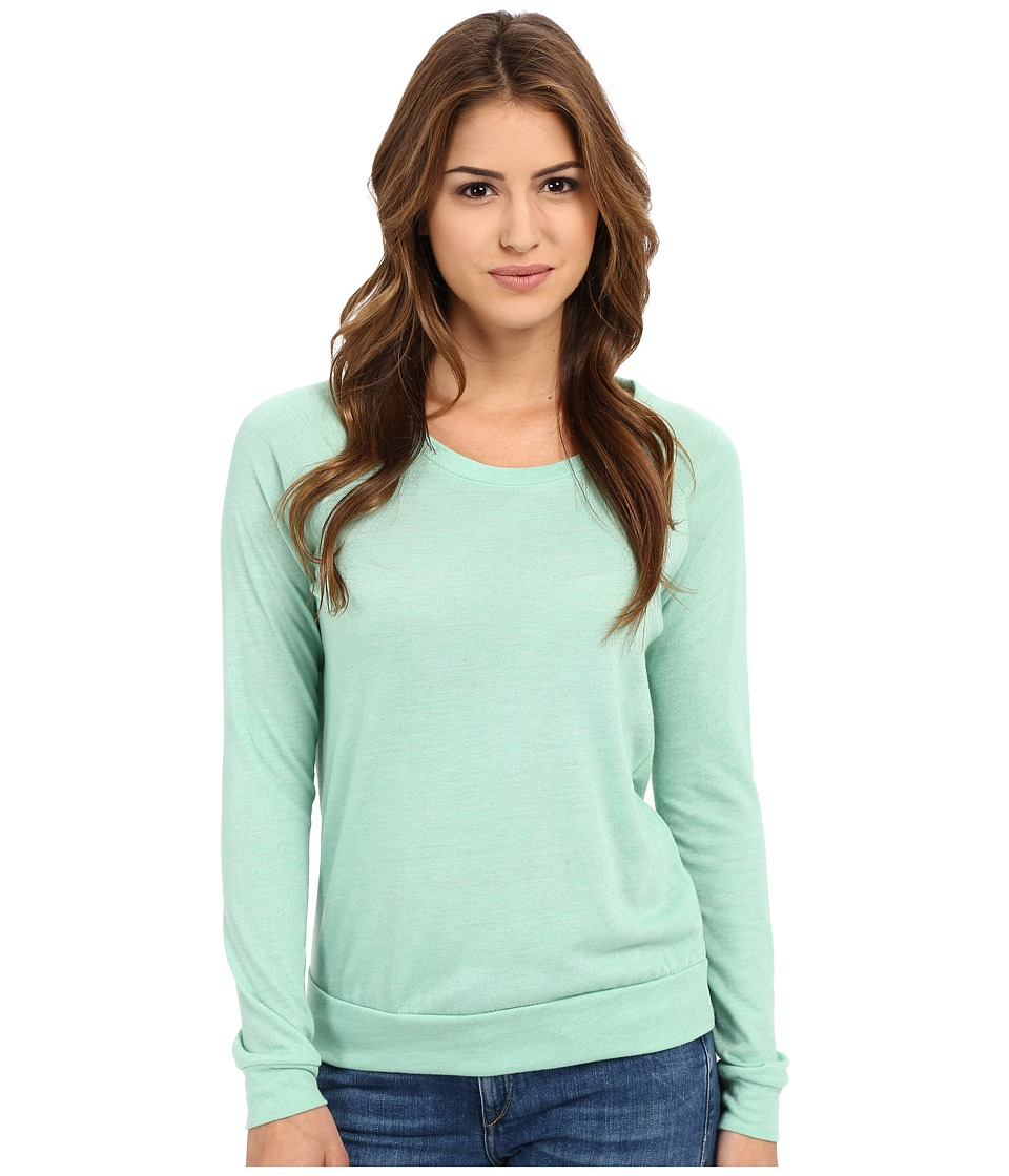 Alternative - Eco-Heather Slouchy Pullover (Eco True Green Tint) Women's Long Sleeve Pullover