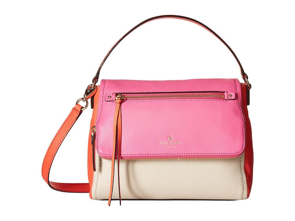 Kate Spade New York - Cobble Hill Small Toddy (Tulip Pink/Bright Papaya/Porcelain) Shoulder Handbags