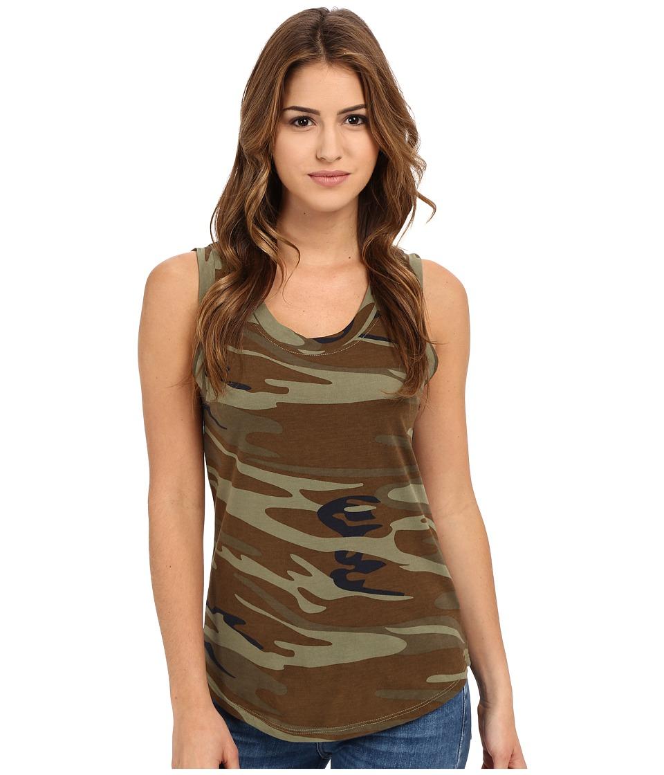 Alternative - Cotton Modal Muscle Tank Top (Camo) Women's Sleeveless