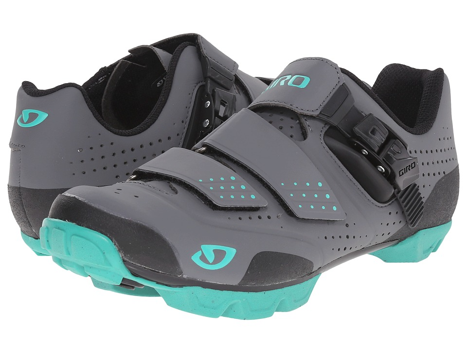 Giro - Mantra R (Charcoal/Turquoise) Women's Cycling Shoes