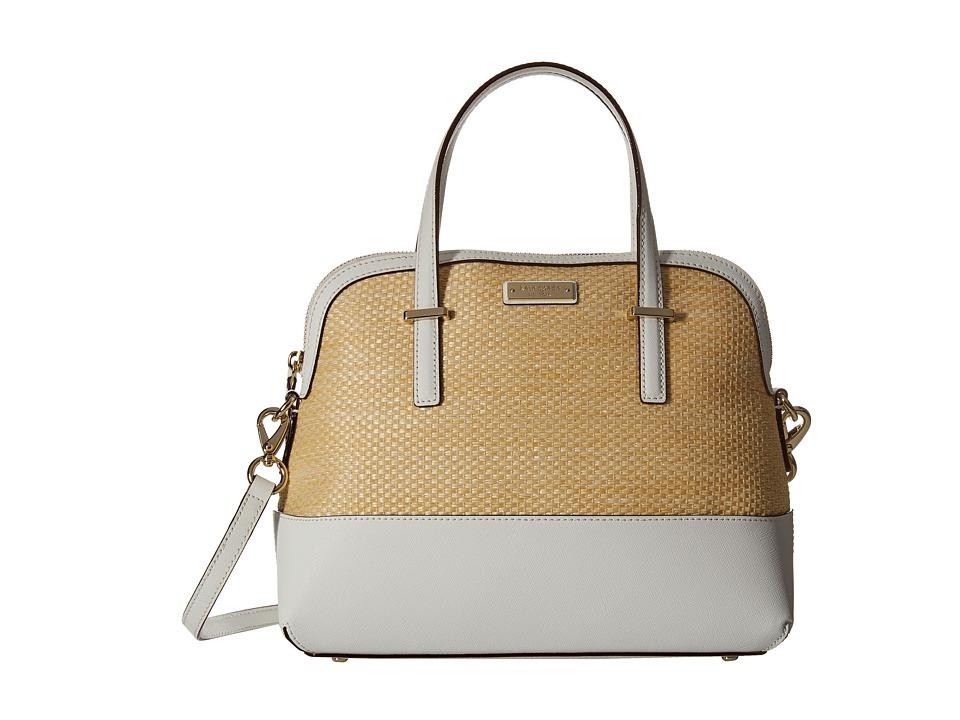 Kate Spade New York - Cedar Street Straw Maise (Natural/Bright White) Handbags
