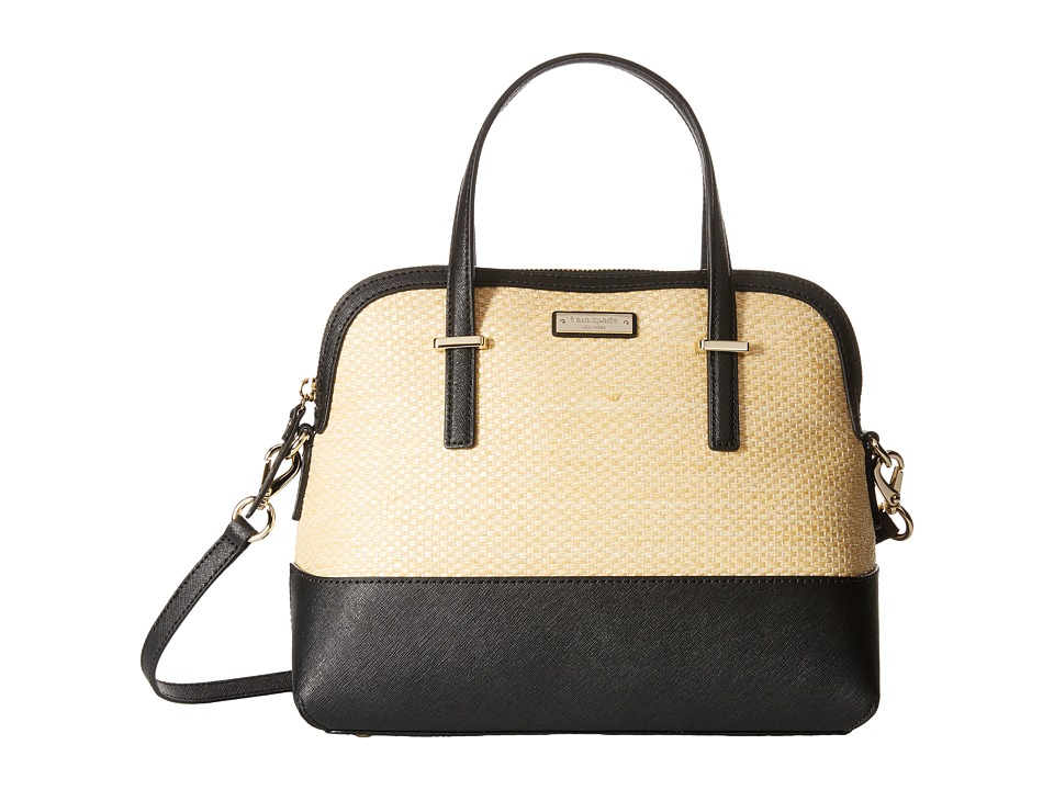 Kate Spade New York - Cedar Street Straw Maise (Natural/Black) Handbags