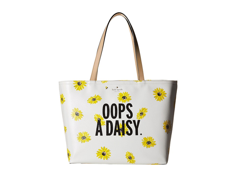 Kate Spade New York - Down The Rabbit Hole Oops-A-Daisy Francis (Cream Multi) Handbags
