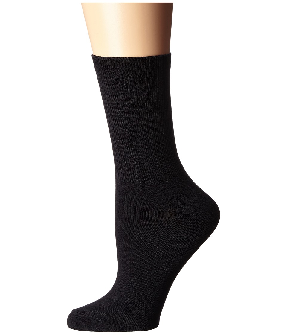 LAUREN Ralph Lauren - Rib Top Short Crew (Black) Women's Crew Cut Socks Shoes