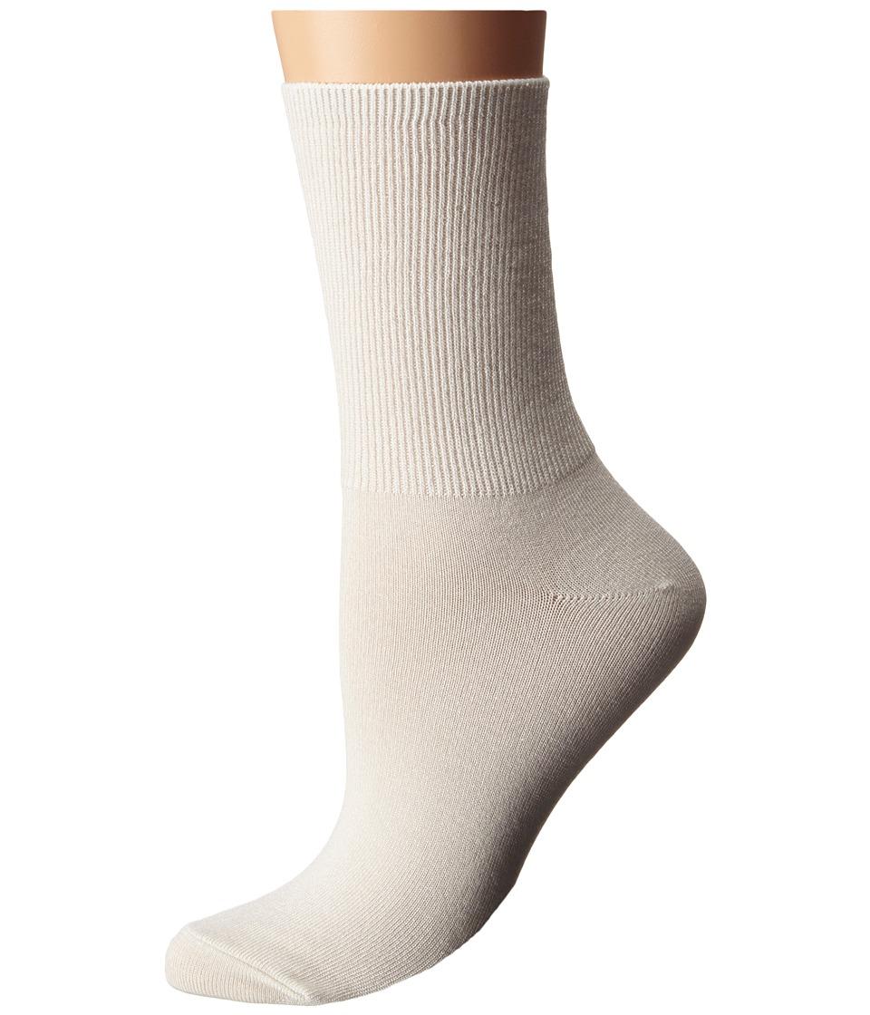 LAUREN Ralph Lauren - Rib Top Short Crew (Ivory) Women's Crew Cut Socks Shoes
