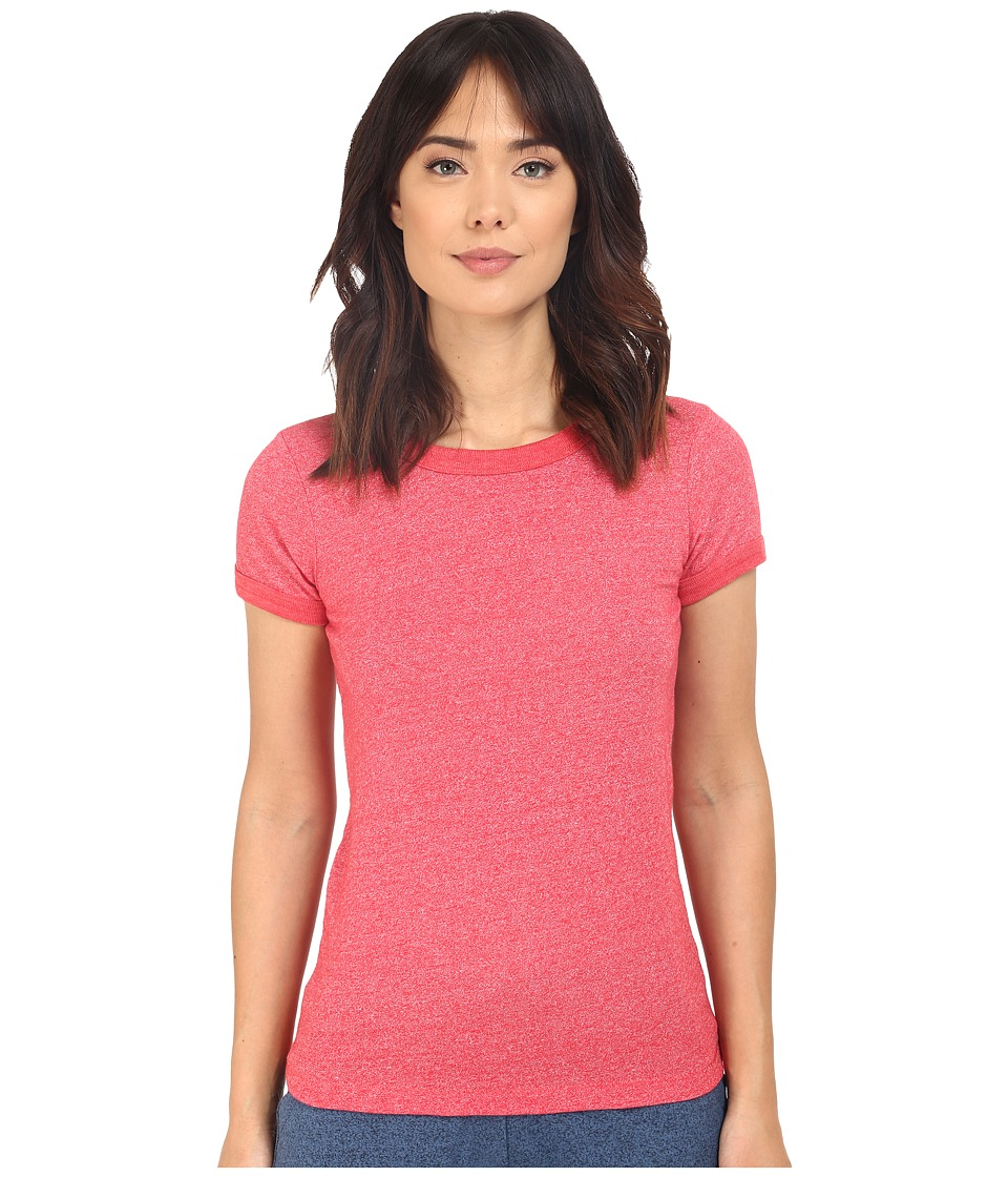Alternative - Eco Mock Twist Jersey Ideal Ringer Tee (Eco Mock Engine Red) Women's T Shirt