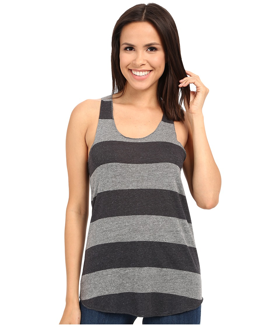 Alternative - Printed Meegs Racer Tank (Eco Grey/Iron Weathered Stripe) Women's Sleeveless