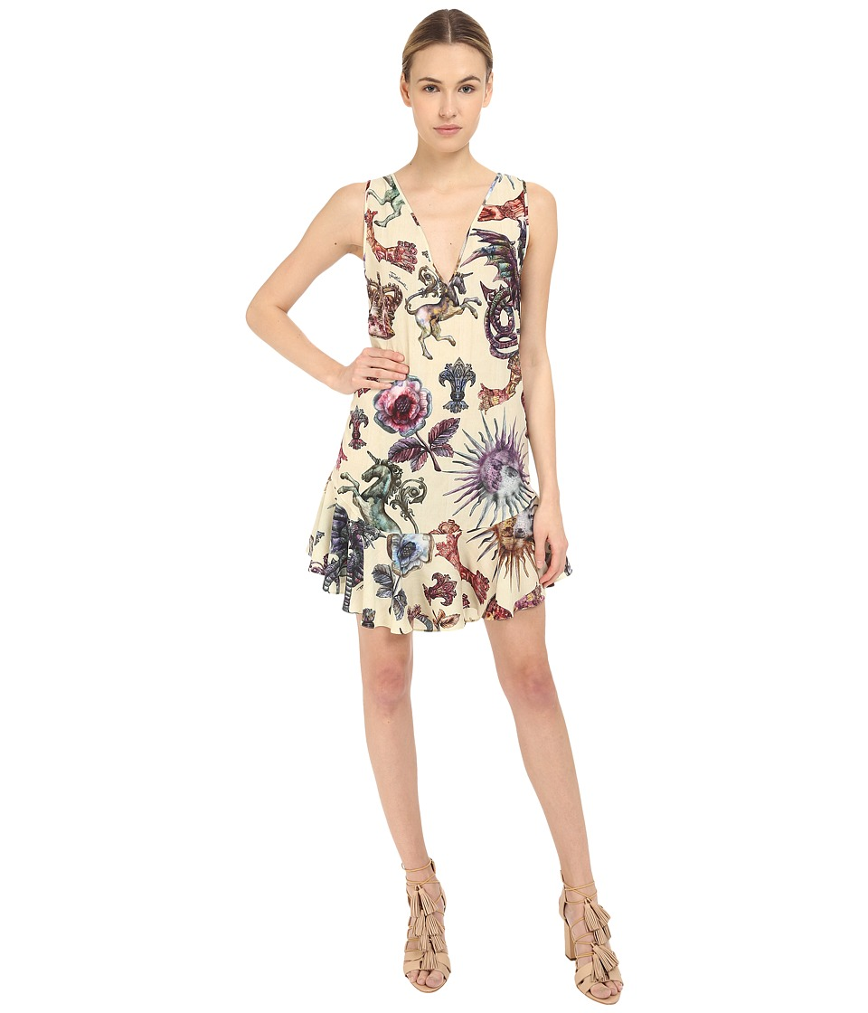 Just Cavalli - Love Royal Printed V-Neck Dress (Dusty Violet) Women's Dress