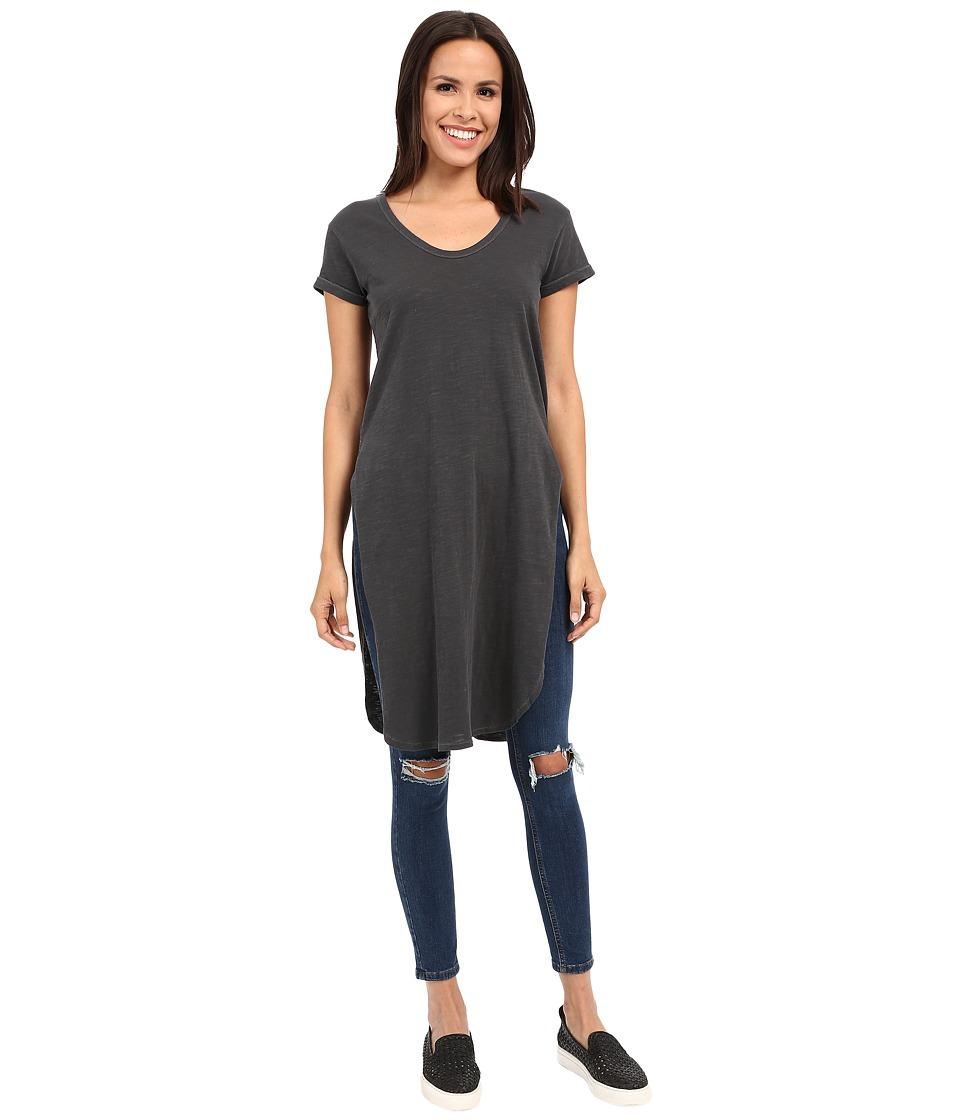 Alternative - Washed Slub Boyle Heights Tunic (Coal) Women's Short Sleeve Pullover