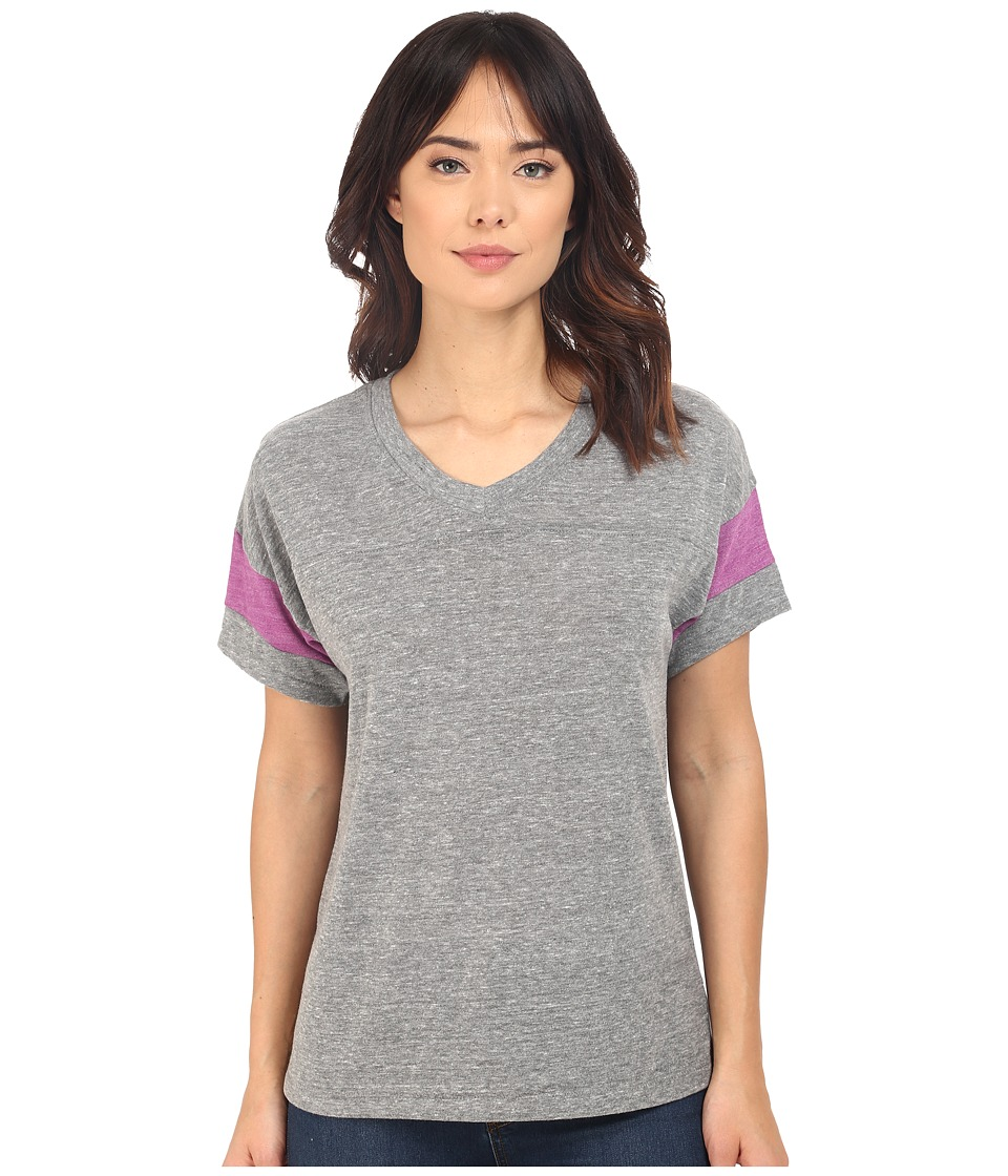 Alternative - Powder Puff Tee (Eco Grey/Eco True Huckleberry) Women's T Shirt