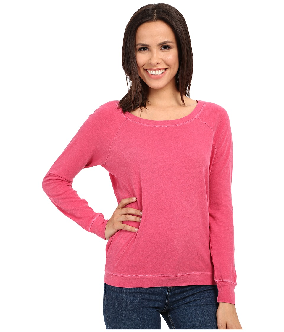 Alternative - Washed Slub Slouchy Pullover (Rosa Pink) Women's Long Sleeve Pullover
