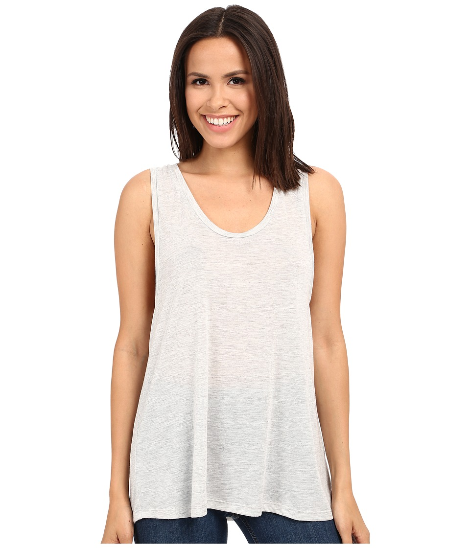 Alternative - Melange Jersey Cut Off Tank Top (Oatmeal Heather) Women's Sleeveless