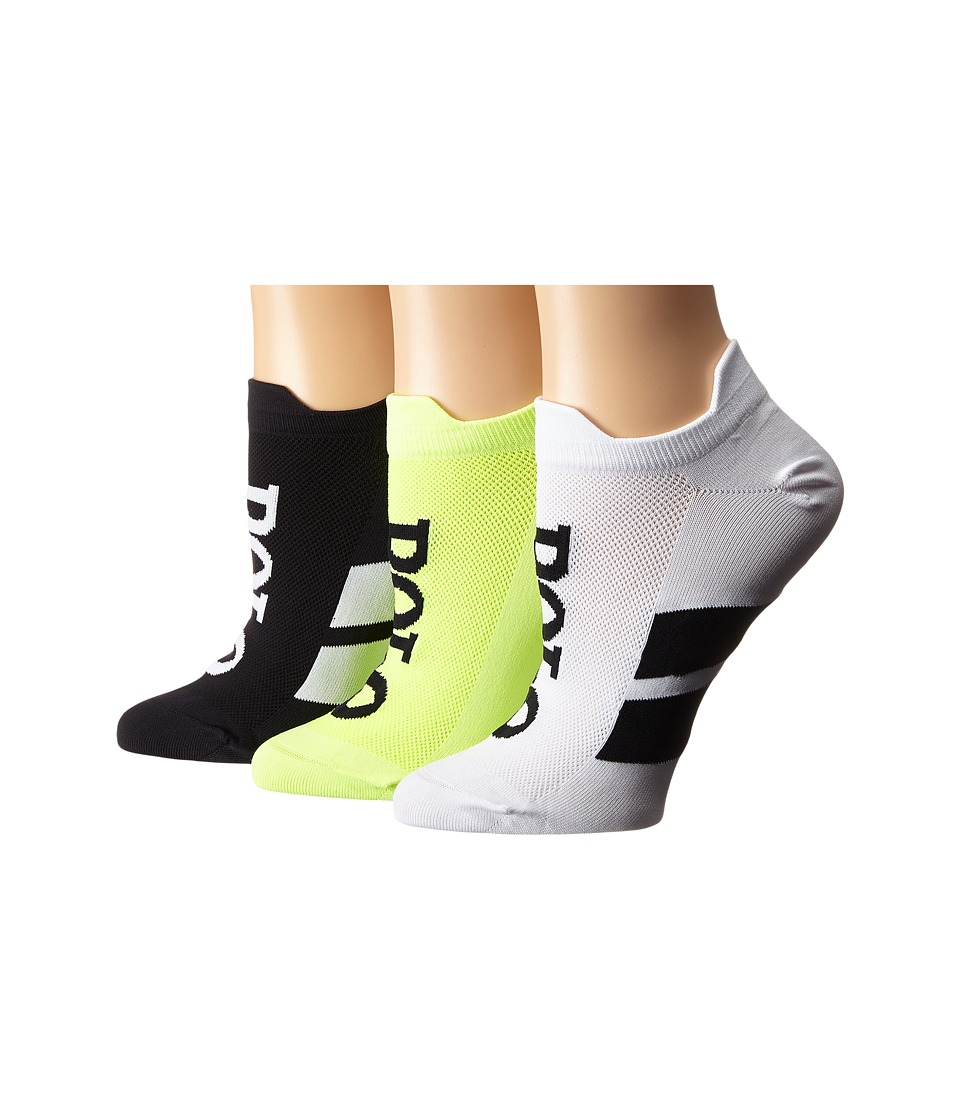 LAUREN Ralph Lauren - Double Tab Micro Racing Stripe Polo Low Cut 3-Pack (Black Assorted) Women's Crew Cut Socks Shoes