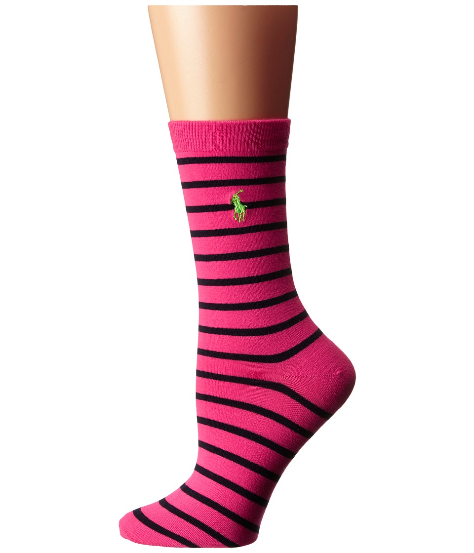 LAUREN Ralph Lauren - St. James Trouser Sock (Bright Pink) Women's Crew Cut Socks Shoes