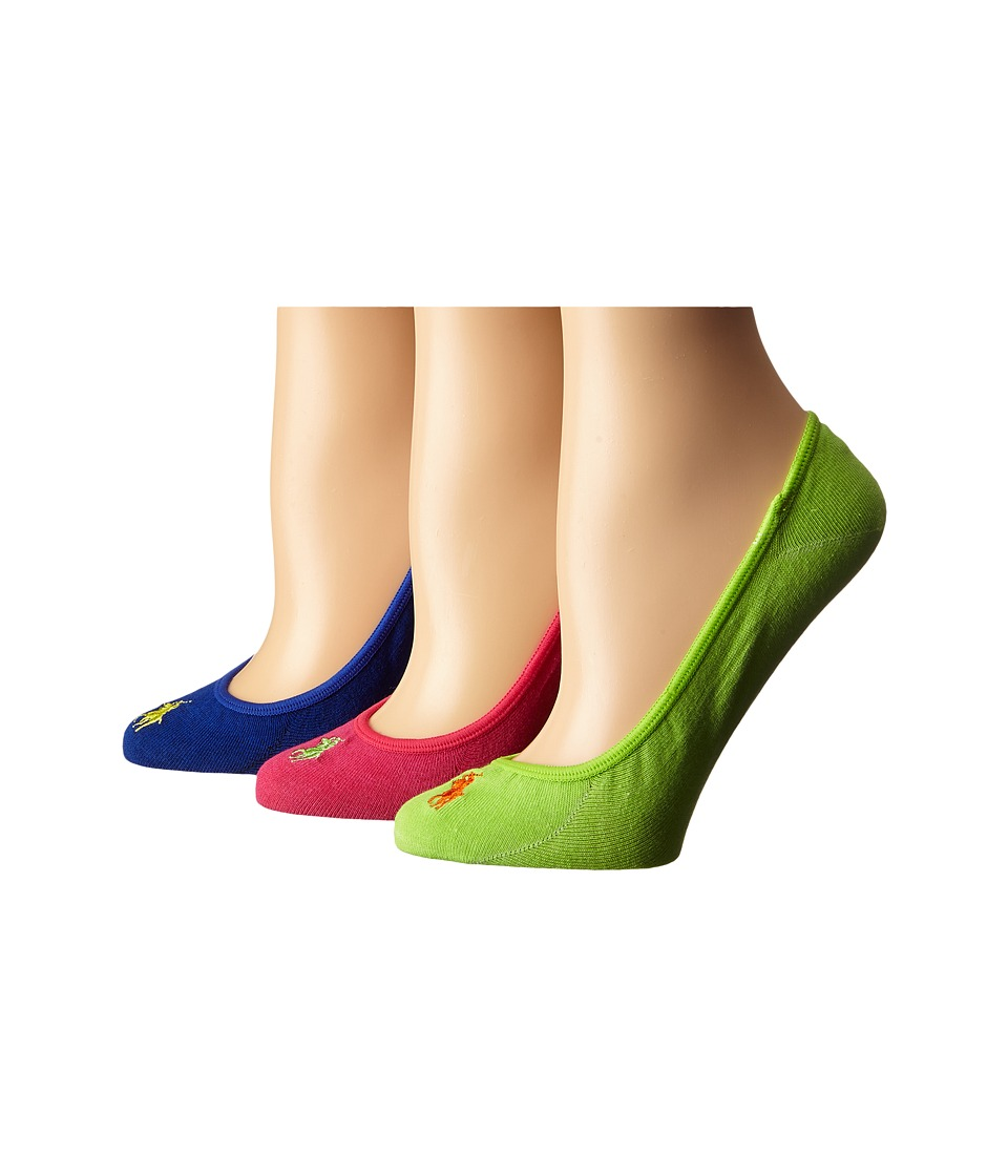 LAUREN Ralph Lauren - Ultra Low Cotton Liner 3 Pack (Hot Pink) Women's No Show Socks Shoes